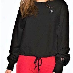 L VS pink Premium HEAVY Cropped Crew Sweatshirt